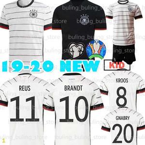 2020 Almanya futbol forması 5 Hummels 8 Kroos Draxler 11 REUS MULLER Götze Kimmich GUNDOGAN 20 21 Erkek Çocuk Ev kiti futbol forması