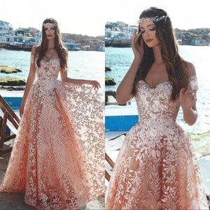 2019 Vintage Off The Shoulder Lace A Line Prom Dresses Beaded Illusion Lace Party Evening Gowns BC0348