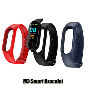 M3 intelligente bracciale orologio cardiofrequenzimetro Bluetooth Smartband Salute Fitness intelligente Banda Per Android iOS Activity Tracker di alta qualità