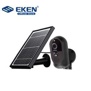 태양 전지 패널 IP65 비바람에 움직임 감지 6000mAh 배터리 야외 IP 카메라와 원래는 Eken 천체 1080p의 배터리 카메라