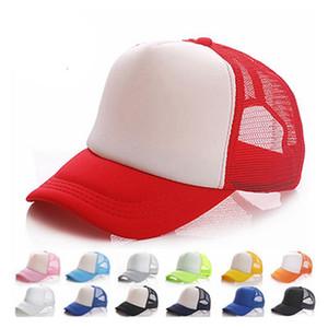 20 renkler Çocuklar Trucker Cap Yetişkin Mesh Boş Kamyon şoförü Şapka Snapback Şapka acept Custom Made Logo Caps