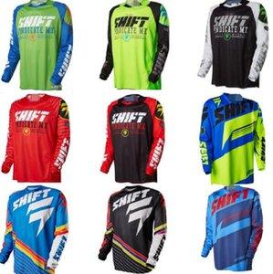 Hot-selling DESLOCAMENTO de mangas compridas de poliéster respirável downhill terno ao ar livre de secagem rápida personalizável roupas bicicleta masculina jaqueta solta