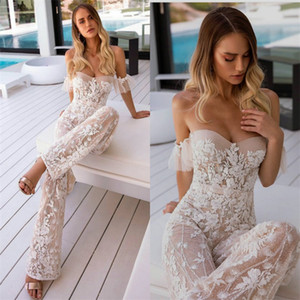 Floral Evening Jumpsuits Sexy Sweetheart Sleeveless Full Appliqued Lace Prom Dress Custom Made Elegant Formal Occasion Dresses