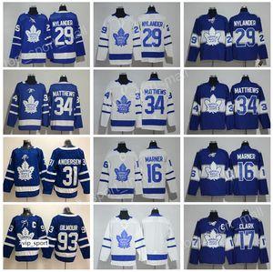 Centennial Classic 100th hockey maillots bleus des Maple Leafs de Toronto 34 Auston Matthews 29 William Nylander Frederik Andersen Doug Gilmour