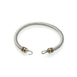 ouro em forma de gancho de aço de titânio fio trançado pulseira de pulso mulheres pulseira de pulso mulheres moda jóias Hot