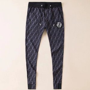 Calças casuais dos homens Nova Tie-Foot Moda Coringa calças Padrão na moda Respirável Fácil bottoms Tamanho M-2XL