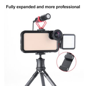 Aluminum Rig Cage Handheld Phone Stabilizer with Cold Shoe Mounts for iPhone XS XS Max OC-shipping
