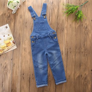 Toddler Boys Girls Overalls Baby Boy Girl Suspender Trousers Fashion Cowboy Overalls Jeans Pure Color Pants Kids Clothes
