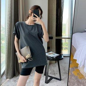 di modo delle donne di media lunghezza allentata estate 2020 nuovo T-shirt firmati COJ cotone a maniche corte delle donne T-shirt di colore solido