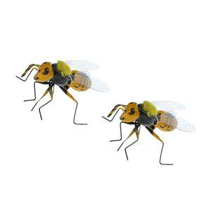 2x пастбища реалистичные пчелы насекомое орнамент Магнит холодильника яркая глиняная статуэтка модель статуи DIY микро пейзаж газон скульптура летний декор