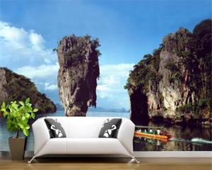Salon Qishan Xiushui Scenic Resort 3D stereo arka plan duvar HD 3d duvar kağıdı Güzel Duvar kağıdı