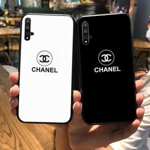 Telefone Companheiro Capa Para Huawei 20 Pro 20X P20 P30 Luxo Quadro caixa de vidro temperado de vidro brilhante no vidro traseiro para Honor 8 9 10 Lite 8X Jogar 9i 9X