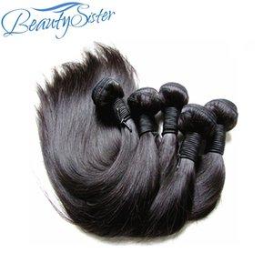 Guangzhou Virgin Hair Pail Pail Divilly Brazilian Virgin Hair Silk прямые 5 пучков 500 г Продажа Сырые Remy Человеческое плетение волос от одного донора