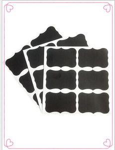 2019 NOUVEAU mode Chalkboard Tableau noir Conseil Craie Autocollants Artisanat Cuisine Jar Étiquettes Étiquettes 80 * 50 mm 6699