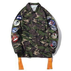 OFF brand WHITE men women denim jacket selling fashion couple jacket Europe and America high quality luxury coat designer camouflage tops