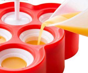 Silikon Mini Ice Pops Mold Popsicle Formen mit 9 Aufkleber Ice Cream Kugel Lolly Maker Kitchen Tools 3 Farben XH1203