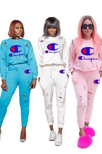 Bayan 2 parça set eşofman gömlek pantolon kıyafetler uzun kollu spor gömlek pantolon eşofman kazak kazak tayt spor çok klw2293