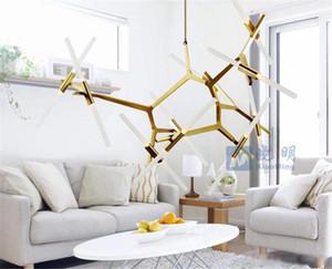 Árbol creativo Lámpara en Restaurante Sala nórdica moderna simple de la individualidad árbol Corona Araña Arte Decoración Lámparas
