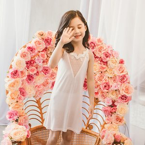 Sexy Girls Pajamas Sleep Dress Kids One Piece Nightdress Nightgown Sleepers Children Night Dress Size 13 11 10 9 8 7 5 4 Years Y200704