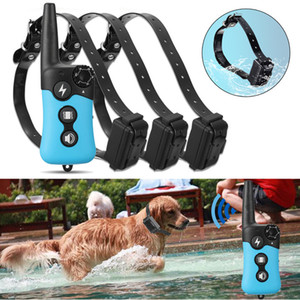 Rechargeable Wireless Electric Dog Pet Fence Waterproof Ultrasonic Training Collars Dog Training System With 1 Remote 3 Collars