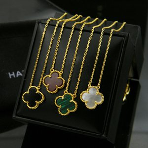 2019 New Women Necklace Gold Plated Flower Design 4Colors Wedding Neckalce For Gift