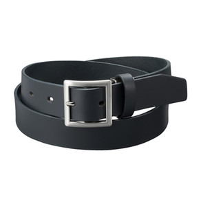 Men's square buckle belt 2020 spring new simple business commuter men's belt goes with everything