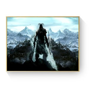 Skyrim The Elder Scrolls Game Posters and Prints Wall art Decorative Picture Canvas Painting For Living Room Home Decor Unframed