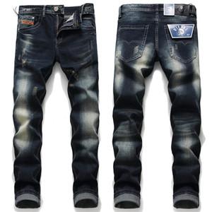 Encontra 2020 Semelhante Marca plissadas Homens Lápis Jeans Casual Sólidos designer de cores da Mid cintura calças dos homens Moda Vestuário Masculino 2003 #