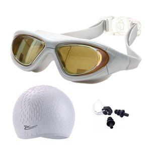 Myopia Swimming Glasses Adult Earplug Silicone Swim Cap Bag Pool Women Waterproof Eyewear UV Protect Prescription Diving goggles