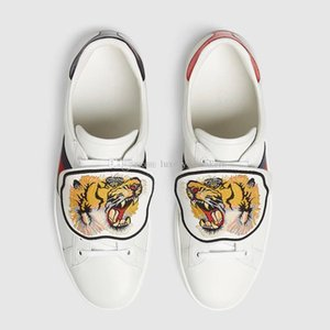 Women Low Top White Leather Casual Shoes Fashion Cat Tiger Blind for Love Removable 2020