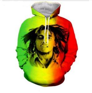 Out Moda Streetwear 3D HD Baskı Rahat Yıldız Bob Marley Hoodies Tişörtü Erkek Kadın Hoodie Ceket Kaban LMS0100