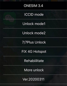 Freies DHL New ONESIM / GNSIM / GPLTE Unlock Sim Karte für iOS 13.x US / T-Mobile, Sprint, Fido, DoCoMo andere carrieres Turbo sim Gevey