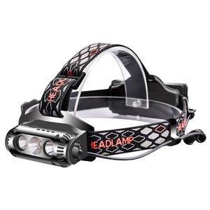 COB Headlamp Flashlight Waterproof LED Light Bike Bicycle Cycling Warning Headlight Head Lamp