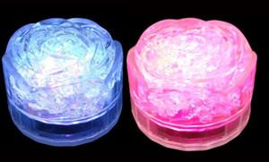 Luzes led rosa iluminado gelo rosas indução luzes de toque cubos de gelo luzes coloridas simulação ice bar adereços de presente