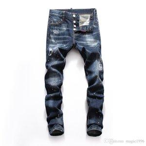 2019 2020 latest Italian men's hollow high quality jeans hip hop logo designer pants men's new wx006