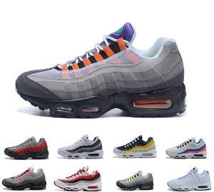 2019 Men's classic  Max 95 9s Running Shoes OG Neon Grape Triple Negro Blanco TT University Red Cushion Surface Transpirable Trainer Sport Sneakers 40-45