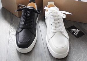 [Orijinal Kutu] Zarif Tasarımcı Erkek Kırmızı Alt Sneakers Ayakkabı Ile En Kaliteli Kadınlar, Adam Rantulow Deri Rahat Düz Beyaz, Siyah, Çıplak