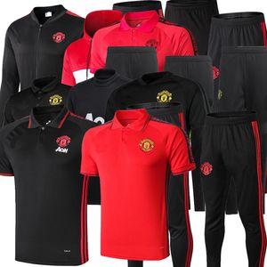 19 20 Manchester Polo Camisa de manga corta Pantalones Poders United Pogba Fútbol Traje 2019 Rashford Lukaku Man Football Polo Shirtsuit