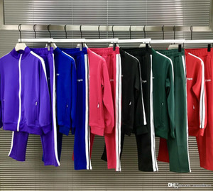 2020 molti colori mens tuta Felpe abiti da uomo Pantaloni sportivi tuta da ginnastica di lusso del Mens del cappotto del rivestimento del cappotto con cappuccio felpa Palm Sportswear