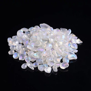 1 كيس 50 غ / 100 غ من الكريستال زاوية هالة القمر الكوارتز الحجر هبط الحجر غير النظامية (الحجم: 7--9 مم)
