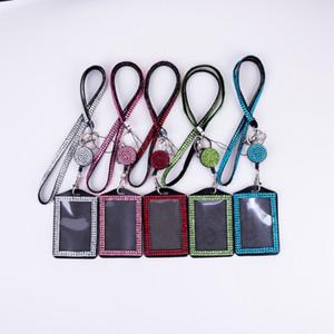Bling Bling Bling Cinturino in cristallo in cristallo con diamante con scollo a cristallo con supporto per distintivo orizzontale ficcone e catena chiave DBC BH2716