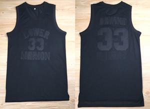 nuevos llegan todas las camisas para hombre de la vendimia Bryant Bryant negro Lower Merion High School secundaria de baloncesto jerseys Rojo Negro Blanco barato cosido