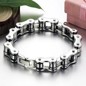 Chain degli uomini del motociclista della bicicletta del motociclo del braccialetto del punk Titanio Acciaio Bracciale braccialetto Uomini braccialetto d'avanguardia Jewelry