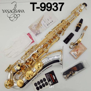 Brand New professionale YANAGISAWA T-9937 Tenor Saxophone Silvering professionale Tenor Sax nichelato con il caso di Ance collo Bocchino