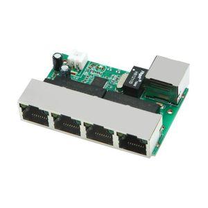 RJ45 puerto de red módulo de conmutación / caja débil Ethernet 100M de 5 puertos de entrada cabecera conmutador de red placa base / pin