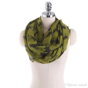 New Moose Infinity Scarf Loop Snood For Women Ladies elk print circle scarves animal deer bandana long scarf for Christmas
