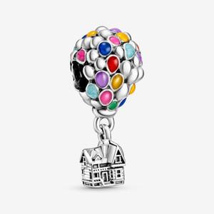 Neue Ankunft 100% 925 Sterling Silber Bunte Emaille Ballons Charme Fit Original Europäischen Charme Armband Modeschmuck Zubehör