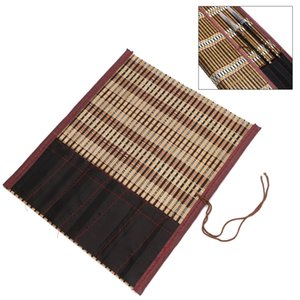 Painting Brush Holder Bamboo Rolling Bag Calligraphy Pen Case Curtain Pack