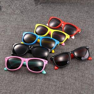Crianças polarizados óculos de sol de silicone macio meninos full frame óculos de sol crianças máscaras de viagem ao ar livre esporte eyewear ljjt1014