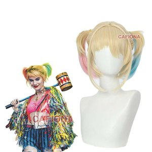 2020 Hot Harley Quinn Tassel Jackets Cosplay Costume Wig Movie Birds of Prey Colorful Coat Halloween High Quality